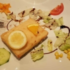 Foto zu Restaurant Poseidon: Saganaki mit Weißbrot, 23.01.19
