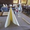 mein Tisch im hinteren Teil des Gastraums