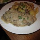 Foto zu Gaststätte im Hotel Zum Hofbrauhaus: Champignonrahmschnitzel mit Champignonrahmsauce