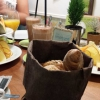 Unser Frühstückstisch im Cafe Glücklich