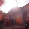 warme Novembersonne auf der hinteren Terrasse