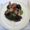 Spanferkel-Karree, Brokkolistampf, Trüffelkartoffeln