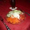 Salat als Beilage zum Champignonschnitzel