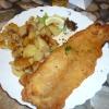 große Portion Backfisch