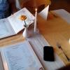 Tisch und Karten
