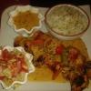 Kuku Shakiki (Hähnchenspieß gegrillt) mit Basmatireis