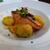Lachs mit Kartoffeln, Fenchel-Orange