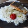 Lachsfilet mit Kohlrabi und Reis