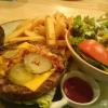 Black burger, aufgeklappt, mit irisch Black Angus