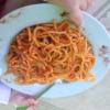 Kindermenü Spaghetti in Tomatensoße
