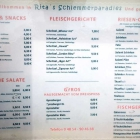 Foto zu Rita's Schlemmerparadies: Rita's Schlemmerparadies Speisekarte