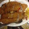 gebratene Fischfilet mit versch. Gemüse