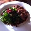 Entenbrust an Blattsalaten