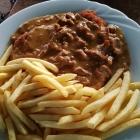 Foto zu Gutsausschank Burkl: Schnitzel klein mit Pfiffelingen und Pommes