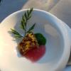 Amuse Thunfisch mit Pistazienkruste