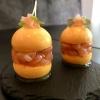 Passionsfruchtmacaron mit Thunfischtatar