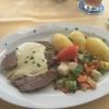 Rinderbrust mit Salzkartoffeln