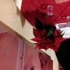 Weihnachsstern auf unserem 2er-Tisch
