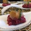 Fingerfood: Beef Tartar, Gel von Gewürzgurke