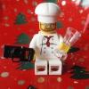 Lego-Koch mit Kamera und Glas