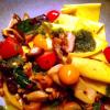 Fazzoletti Waldpilze  Kalamata Oliven, Tomaten, Basilikum