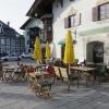 das Café am Ende der Fußgängerzone