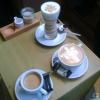 Milch mit Espresso, Espresso mit Milch und ein guter alter Kaffee aus Columbien