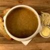 Südfranzösische Fischsuppe · Aioli · gereifter Gruyère · geröstetes Brot