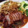 Gegrilltes Entenbrustfilet mit Wokgemüse in pikanter Asia BBQ Soße