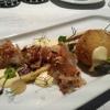 Wild-Rotwurst / Kartoffelbrot / Schalotte / Nashi
