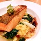 Foto zu Restaurant Friedrich: Label Rouge Lachs mit Sesamöl-Ingwer-Sud