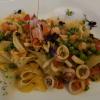 Pappardelle mit Calamari, Shrimps, Scampi