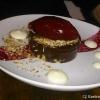 Schokoladenganache, Cassis Eis und Zitronenschmand
