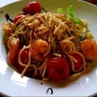 Foto zu LaWendel / Dom-Hotel: Frische Pasta mit Tomaten und Garnelen