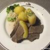 Krenfleisch mit Salzkartoffeln