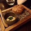 Kartoffelbrot mit Karottenschmand