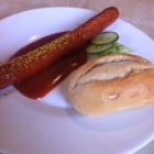 Foto zu HEM Autohof Moorburg - Bistro: Currywurst mit Brötchen 2,95€