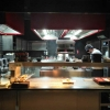 Blick in die offene Küche