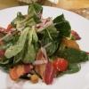 Feldsalat mit Kartoffeldressing, Speck  und Croûtons