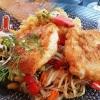 Steinbeißer-Filet mit Pfannengemüse und Kartoffel-Meerrettichstampf
