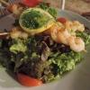 Schlemmersalat (mit Garnelenspießen)