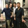 Die Küchenbrigade mit Philipp Schneider (re.) und Sven Wesholek (2. v. re.,  Teilnehmer bei