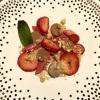 Kaputter Erdbeer-Rhabarbercheescake – Crumble - Shortbread