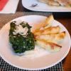 Spinat und Katroffelm zum Saltimbocca
