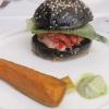 Burger und Beilage