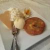 Apfeltörtchen mit Vanilleeis
