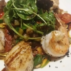 Foto zu Belsers Restaurant: Hausgemachte Spaghetti mit Schmorgemüse und Edelfischen