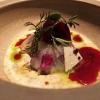 Amuse Bouche: Kabeljau mit Quinoa-Salat und Rote Bete-Kirsch-Sud
