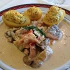 Foto zu Waldhotel Felschbachhof: März 2016: Edelfischragout mit gefüllten Kartoffeln
