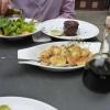 Steak mit Kartoffeln und Rucolasalat